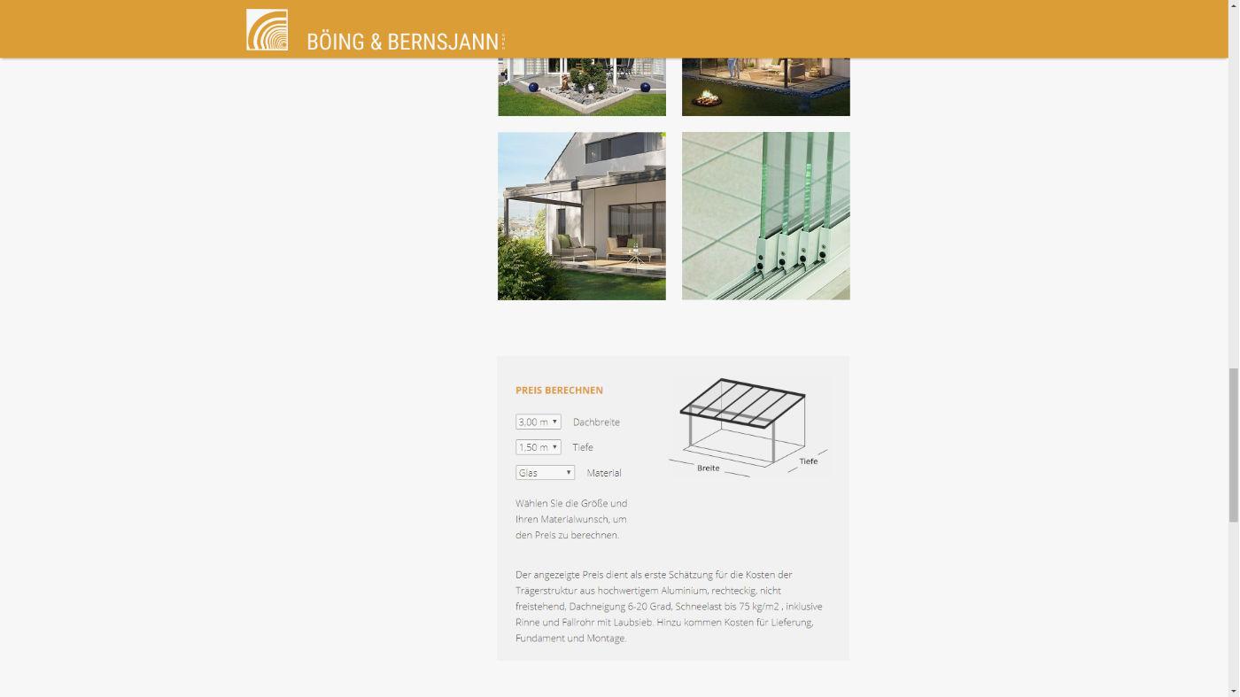 Bernsjann Screenshot Galerie und Berechnungs-Tool