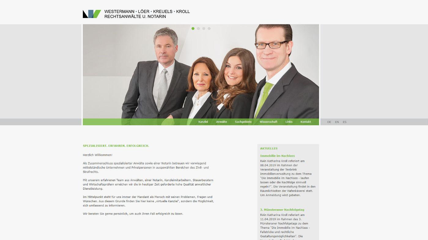 Webdesign für eine Rechtsanwaltskanzlei in Münster, Foto 02