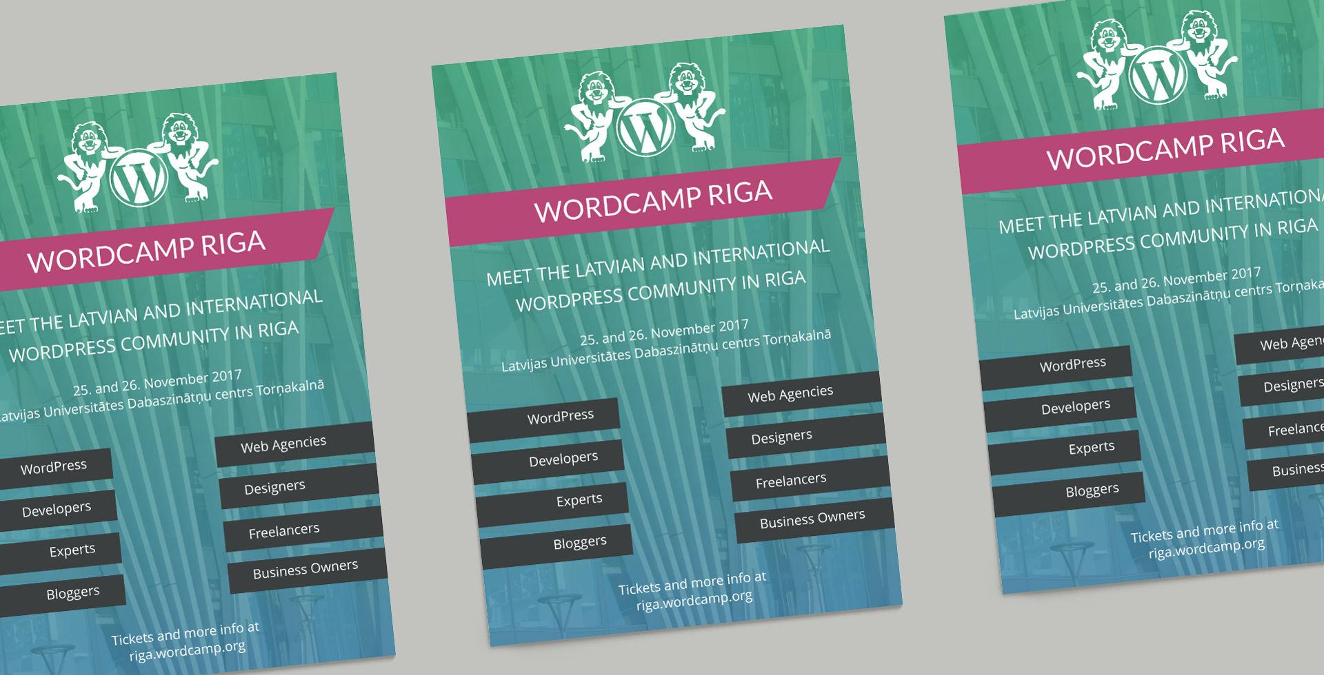Plakat WordCamp Riga